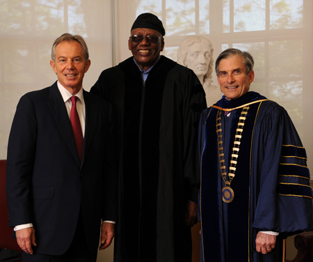 Former British Prime Minister Tony Blair, Randy Weston, William D. Adams Colby's 19th president,